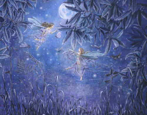 Digital painting of Angels