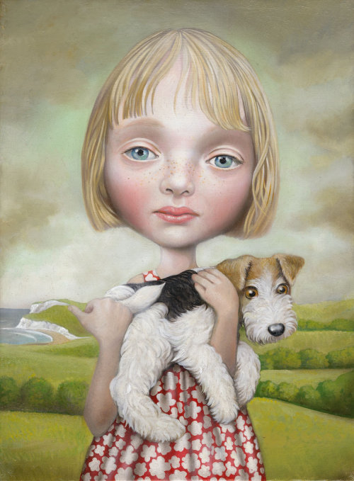 Portraiture of a Girl with Dog