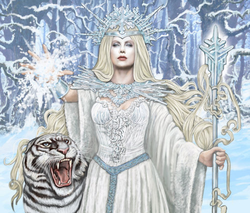 white witch illustration