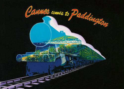 Cannes cityscape cartoon design