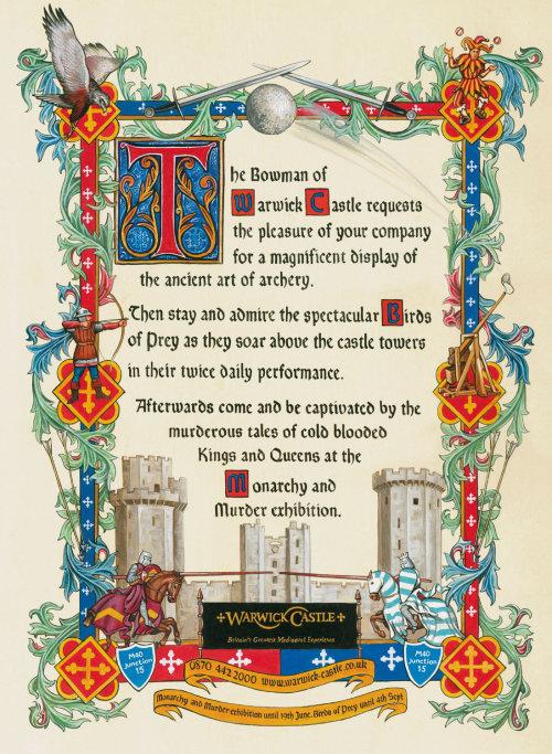 Advertising Poster of Warwick Castle Murder exhibition