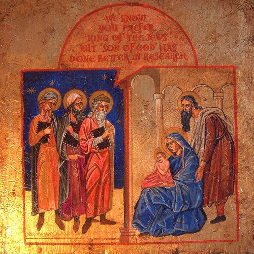 Digital painting of Jesus Christ birth