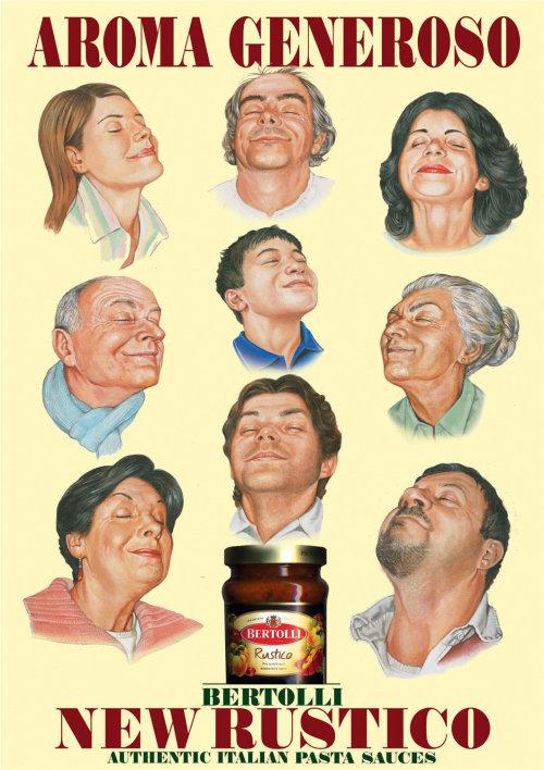 Advertising campaign of Bertolli New Rustico pasta sauces