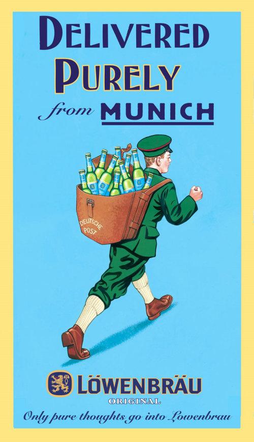Lowenbrau Original poster art by Bob Venables