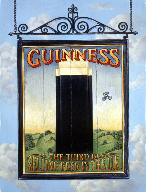 Campaign poster Guinness third best selling beer in UK