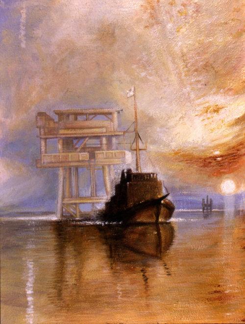 Marine architecture painting