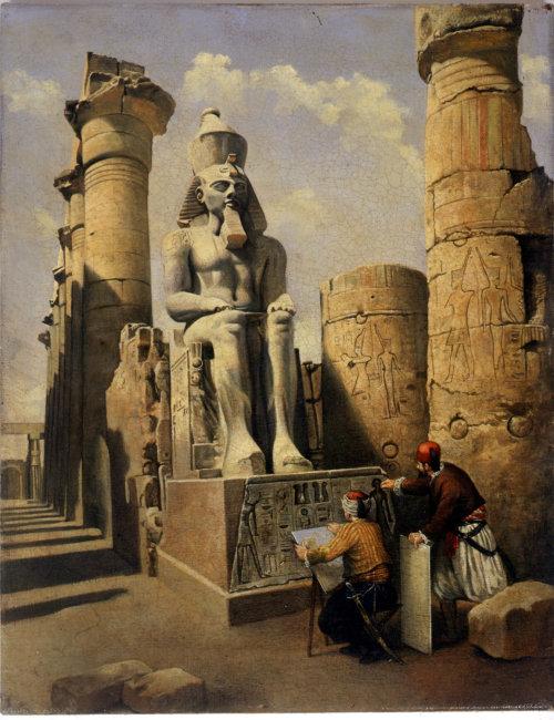 Architecture statue of Pharaoh Ramses