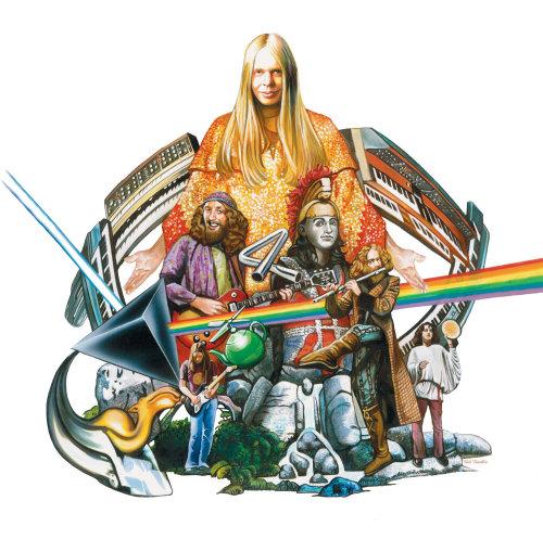Pastiche art of Music band