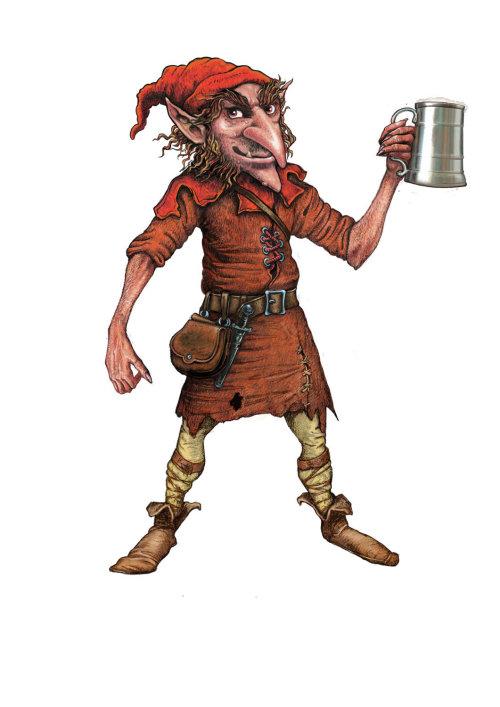 Wychwood Hobgoblin illustration by Bob Venables