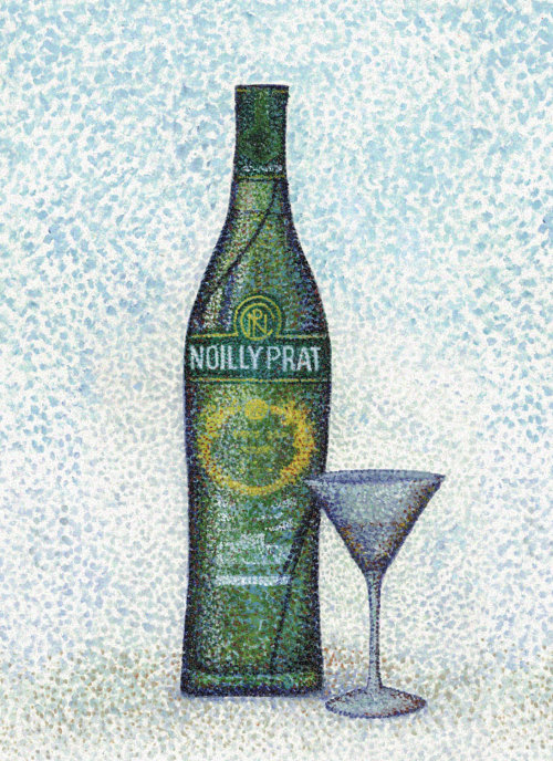 Noilly Prat vermouth food and drink illustration