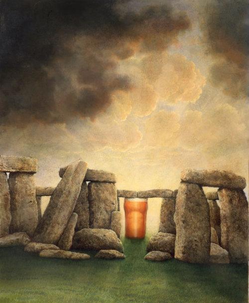 Beer poster illustration by Bob Venables
