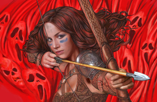 Lady Bow Warrior portrait