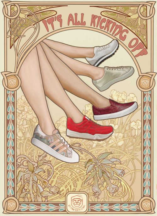 Shoe banner illustration