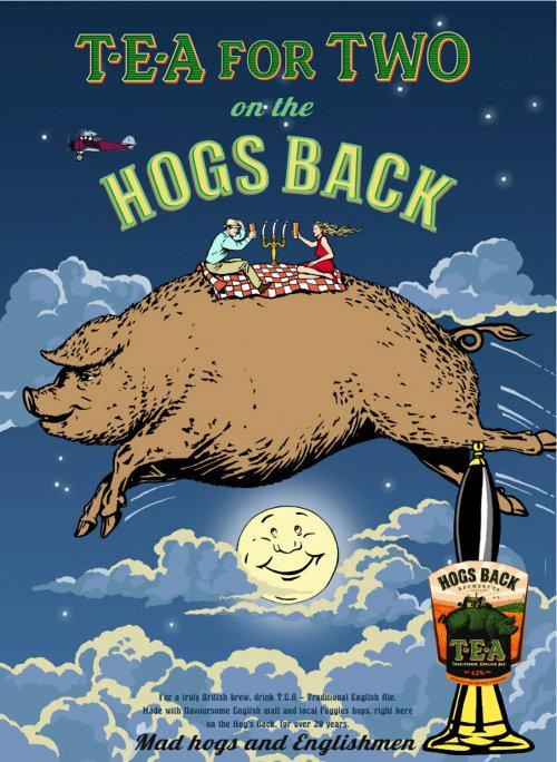 Hogs Back Brewery T-E-A label design