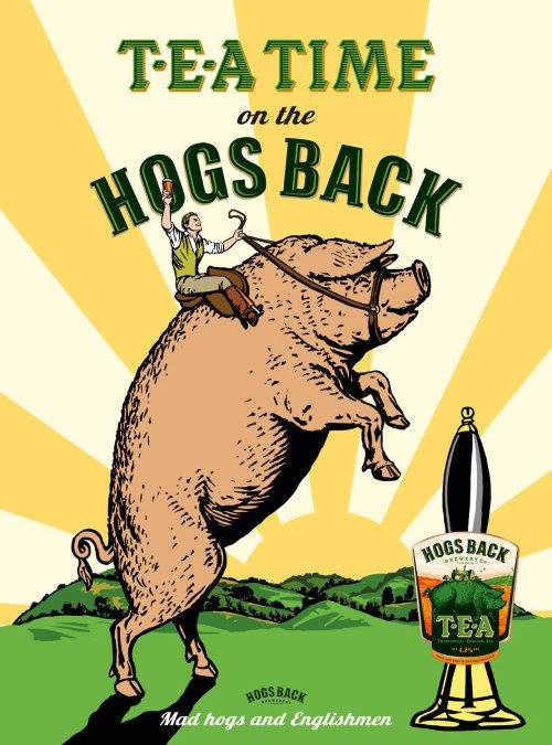 Advertising illustration of Hogs Back Tea