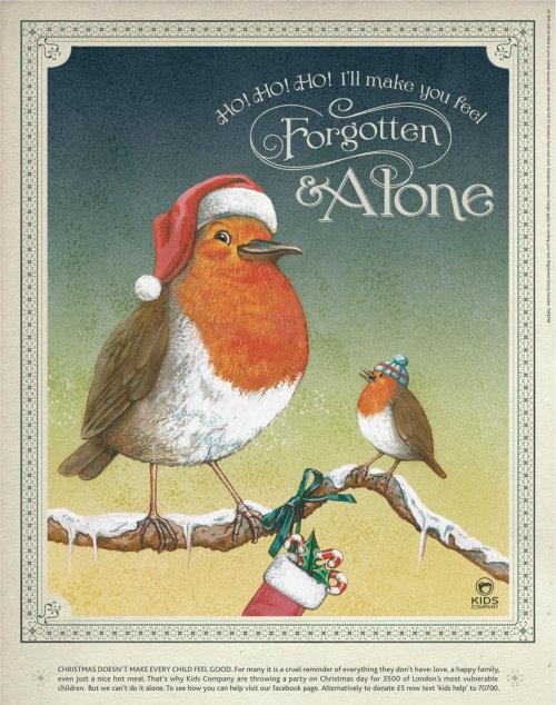 Poster design of Forgotten & Alone for helping children
