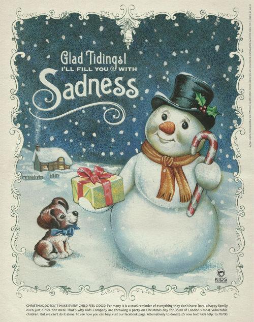 Christmas Day poster art for children donation