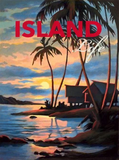 Island life poster art