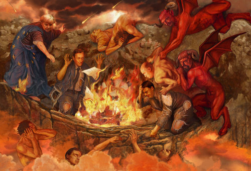 People in Hell illustration