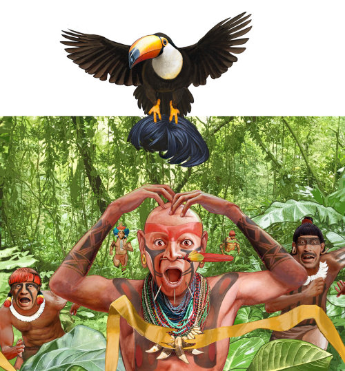 Tribal people illustration by Bob Venables