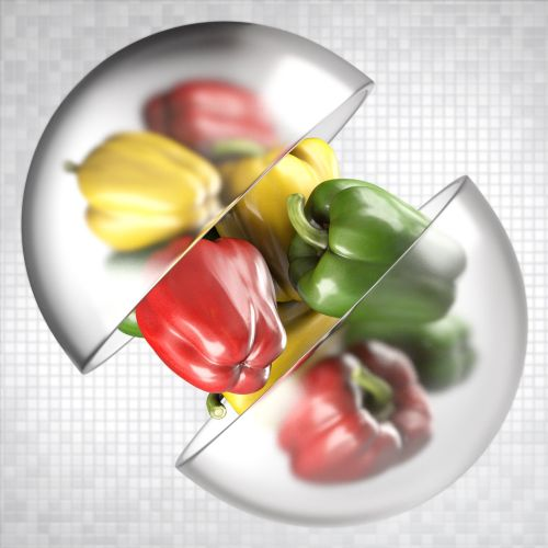 3d Food & Drink colorful capsicum