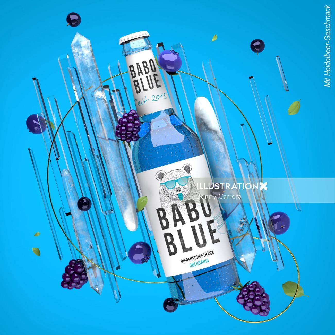 3d Food & Drink Babo Blue grape juice