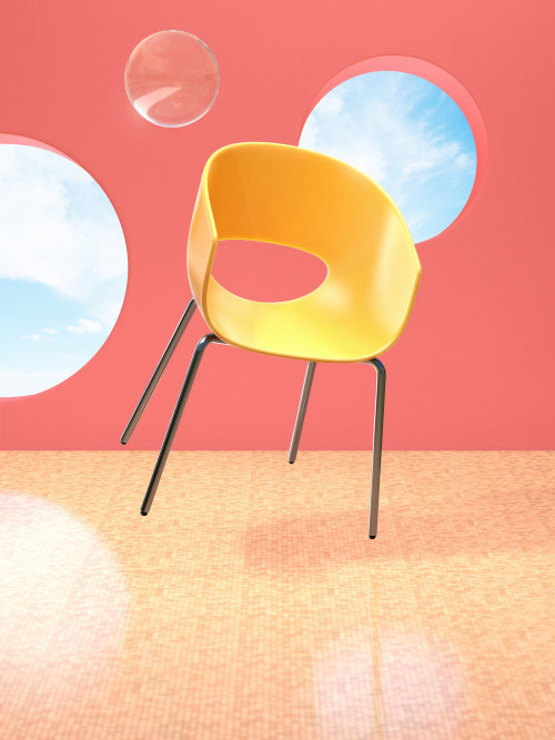 3d illustration of chair