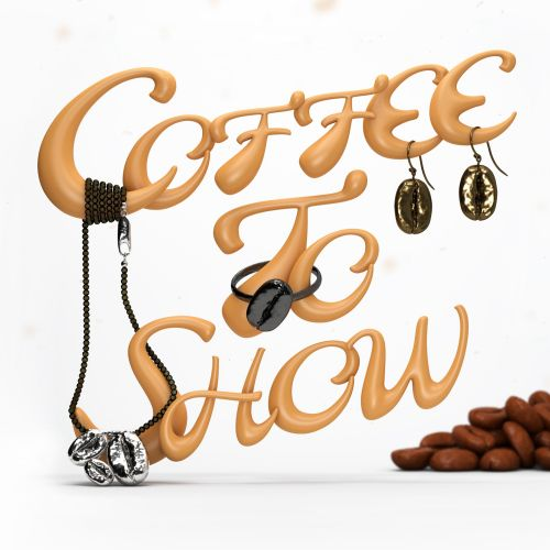 3d lettering coffee to show