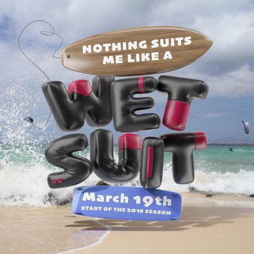 3d lettering wet suit