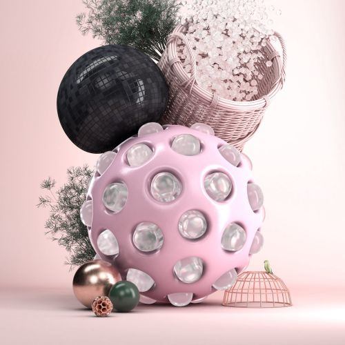 3d decoration balls