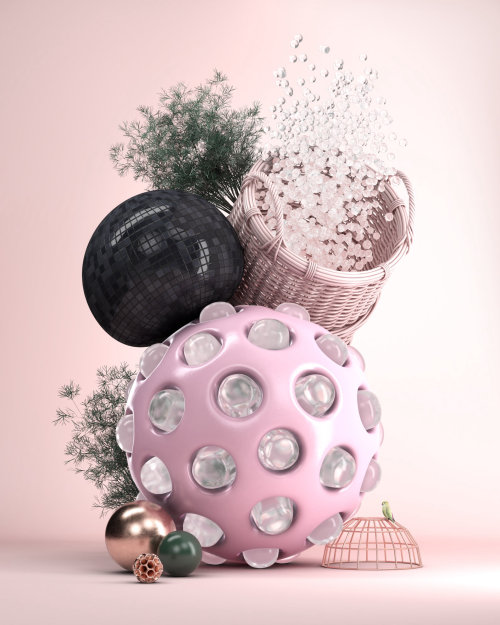 3d decoration balls