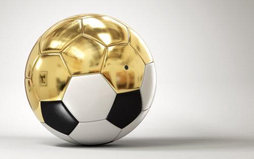 3d design of gold football