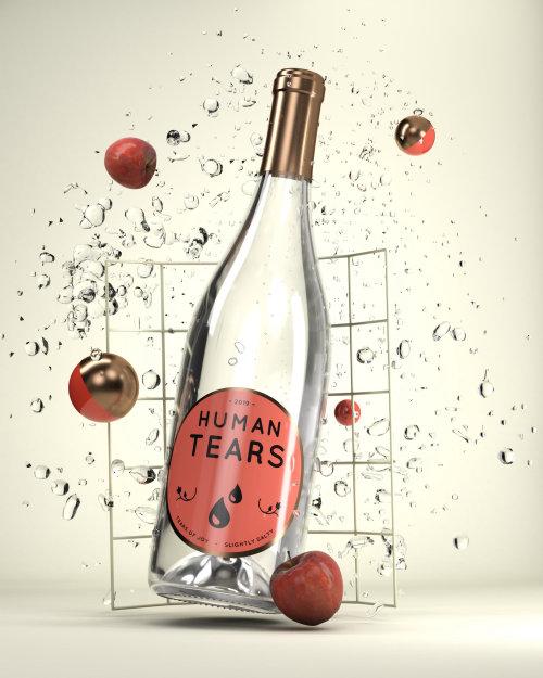 Food & Drink Human Tears bottle