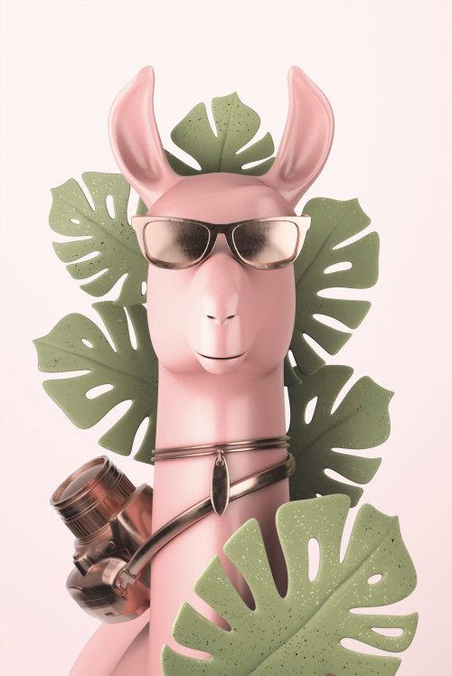 Ilustración de dibujos animados de burro