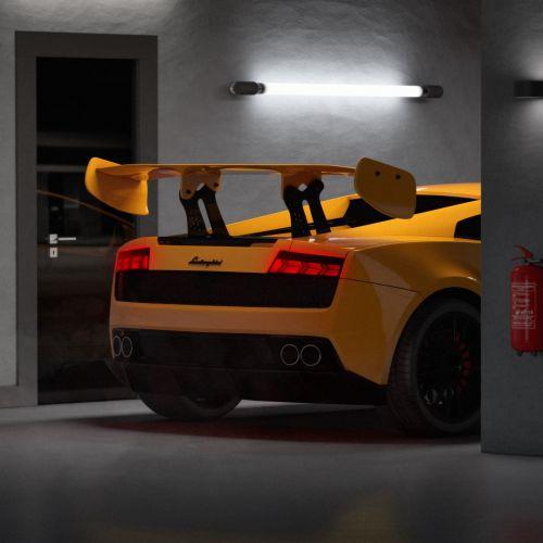 3d illustration of sports car