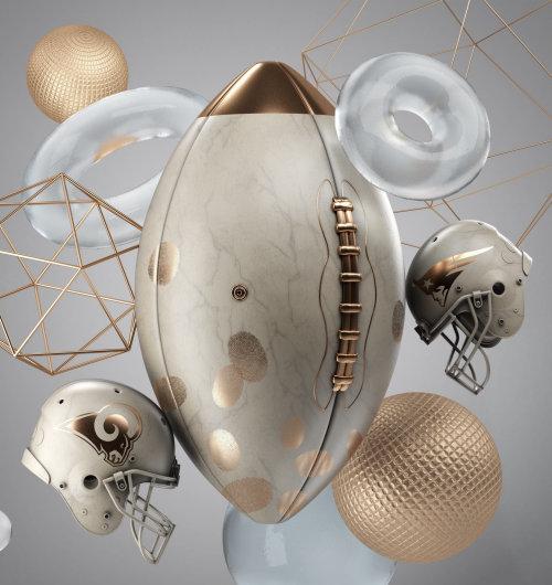 3d rendering of footnall accessories