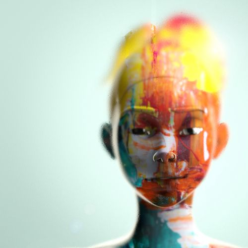 3d illustration of human with colors