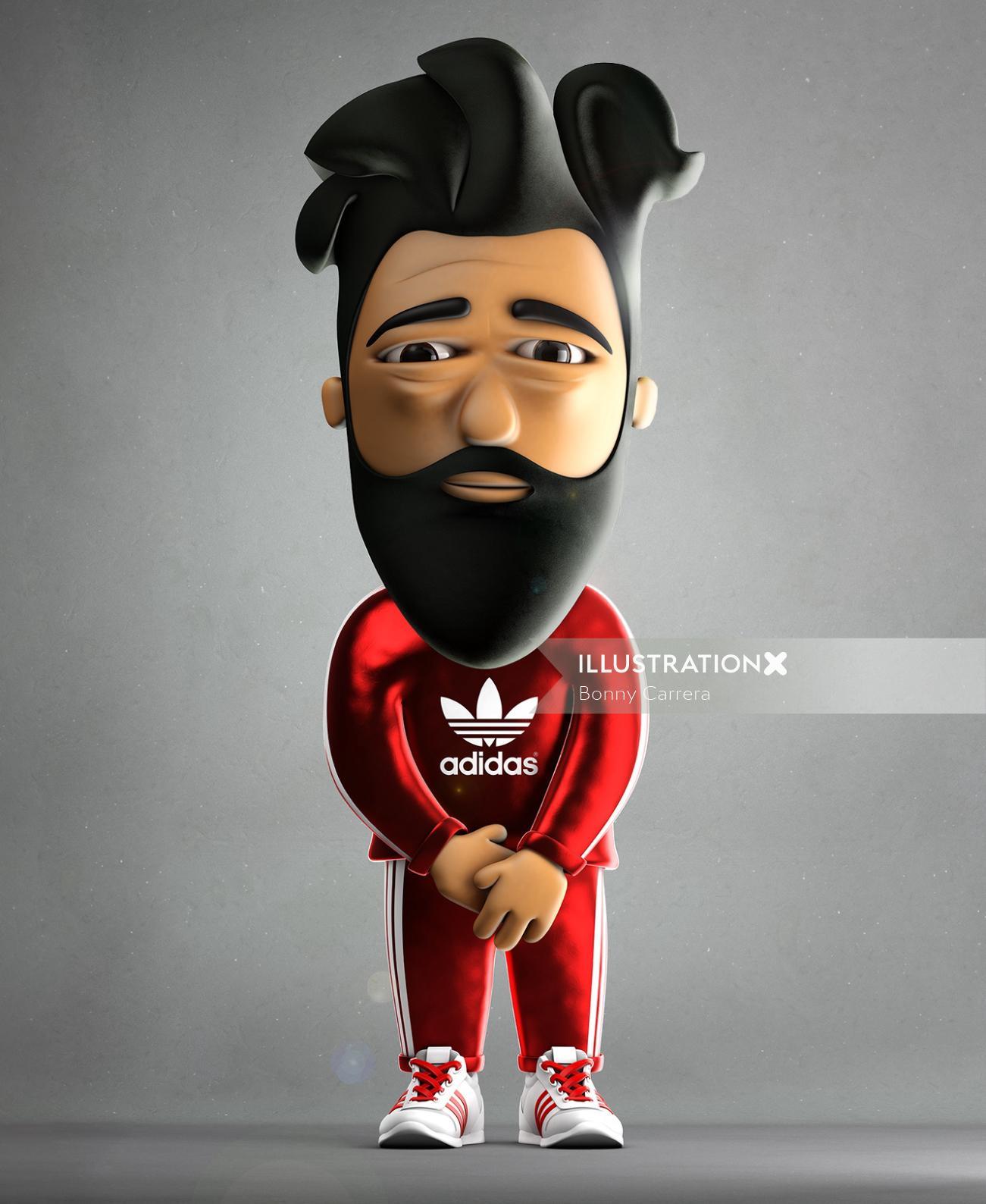 Adidas character design