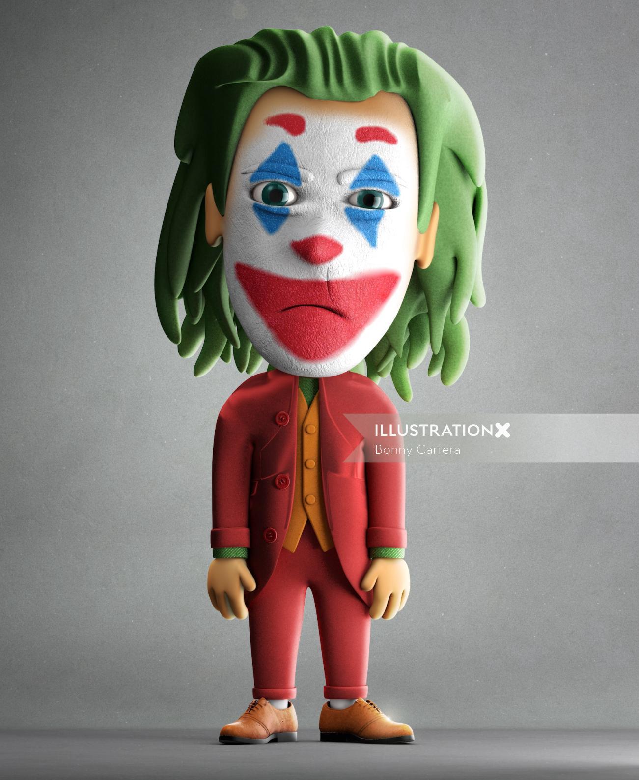 Cartoon art of joker