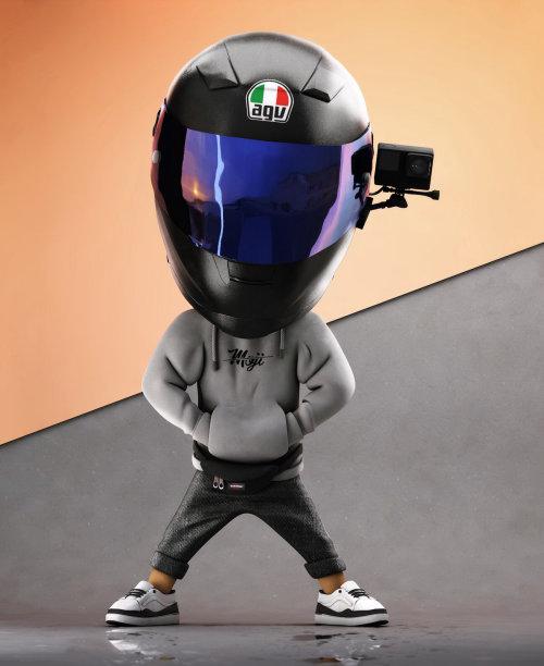 3d man with helmet