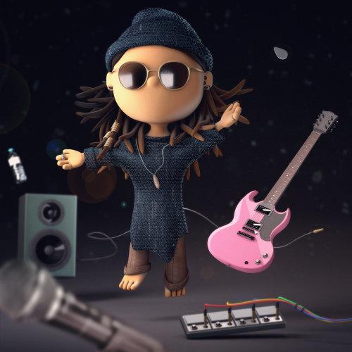 Graphic girl rock band