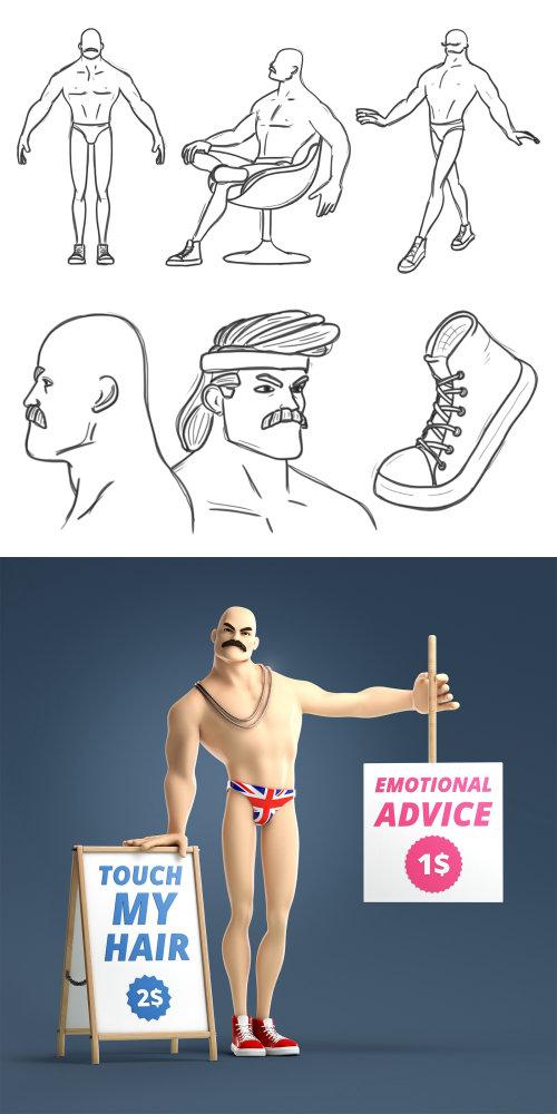 Graphic man Emotional Advice