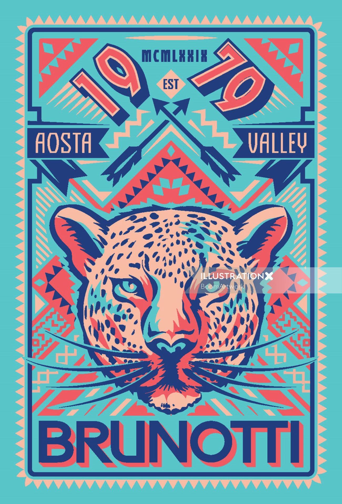 Poster design of Cheetah