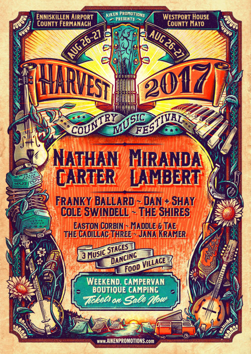Lettering Poster Art For Harvest 2017