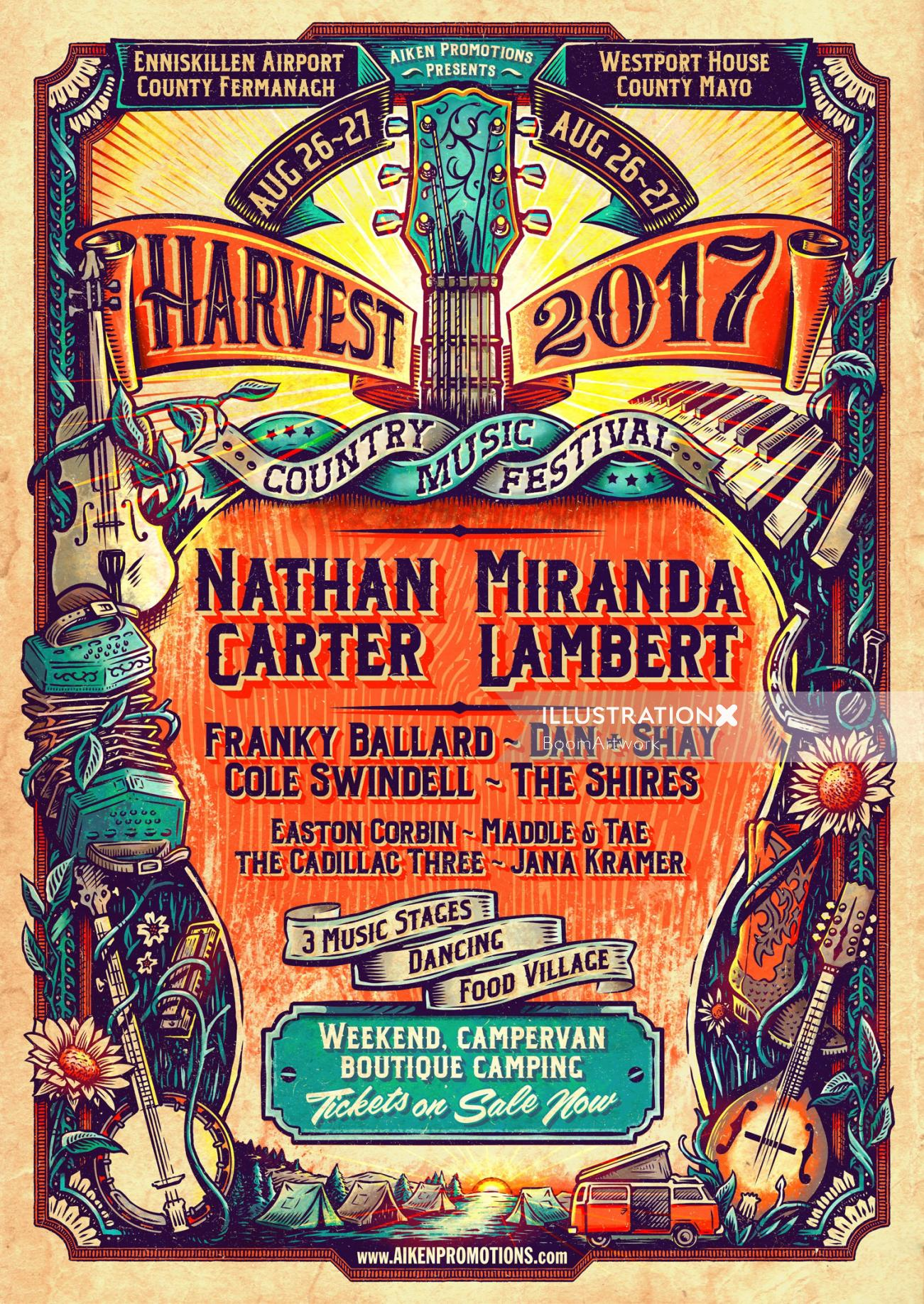 Lettering Poster Art For Harvest 2017