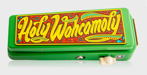 Holy Wahcamoly Typographic Artwork For Wah Pedal