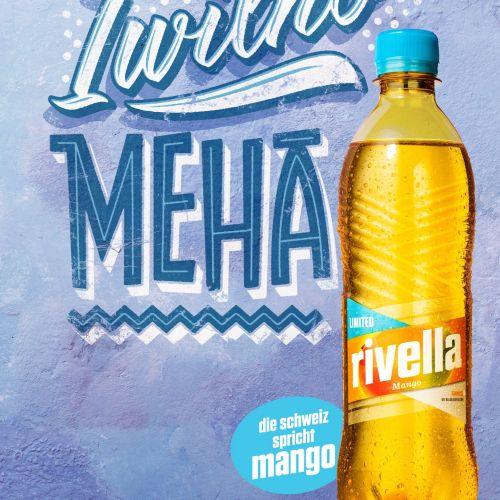Lettering Illustration Of Rivella Meha Mango
