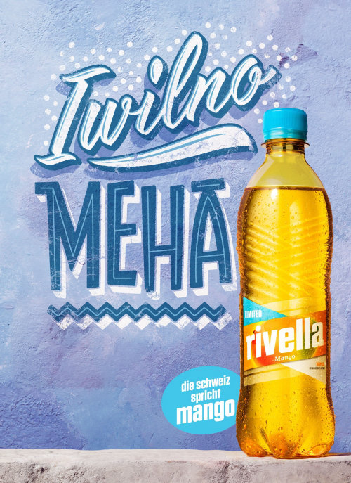 Lettering Illustration Of Rivella Meha Mango