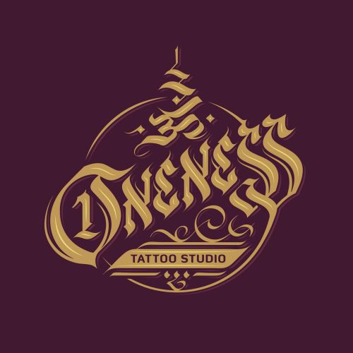 Lettering Logo For Oneness Tattoo Studio