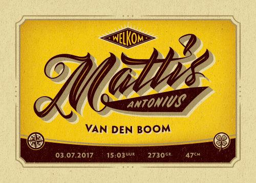 Mattis Antonius poster card design